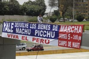 Marcha por recuperación de piezas de Machu Picchu se realiza hoy en Lima y varias ciudades del Peru