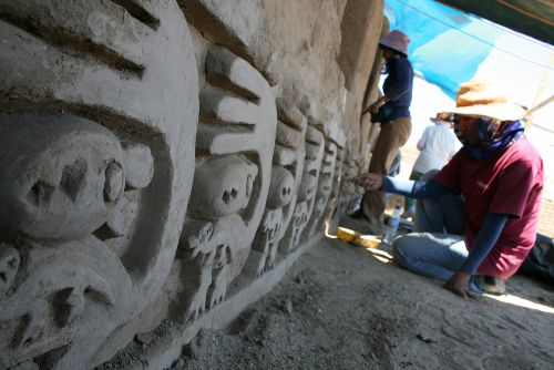 Develarán antiguos frisos de Chan Chan que simbolizarían período de reproducción de la ardilla