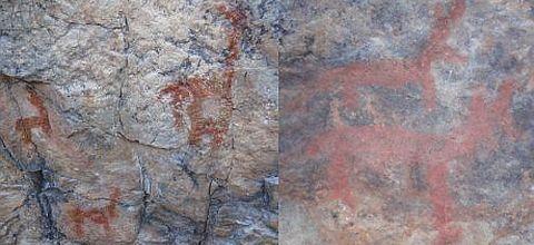 Descubren pinturas rupestres en dos cuevas en Santa Cruz de Rurec, Aija, Ancash