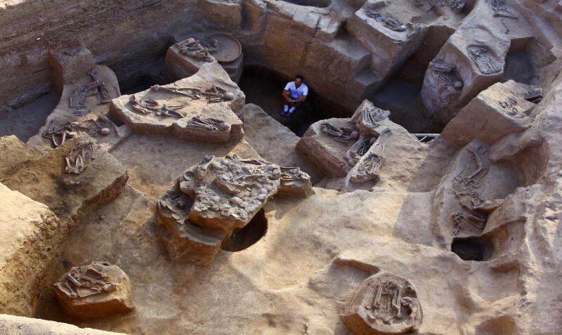 Descubren imponente tumba con 60 sacrificios humanos en Pomac, Lambayeque, Perú