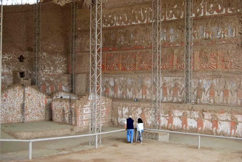 Recuperan 90 de la fachada original de la huaca de la for Mural la misma luna