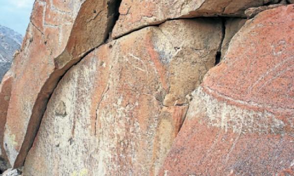 Arte rupestre en Nasca