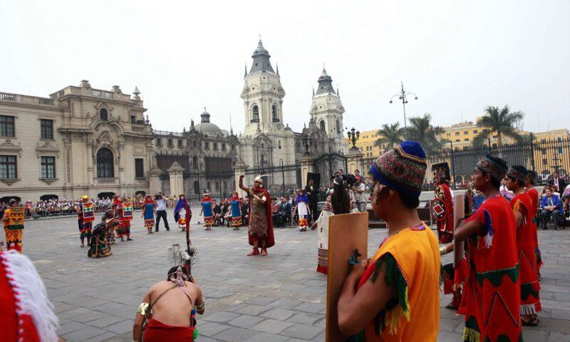 Con gran majestuosidad se lanzó celebración del Inti Raymi en Palacio de Gobierno del Perú