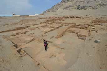 Excavaciones en la ladera oeste del Cerro Blanco 2016-2017, Huacas de Moche, Trujillo, Perú